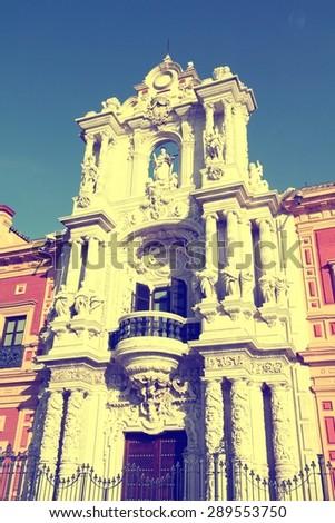 Sevilla, Spain - Palace of Saint Telmo - stock photo