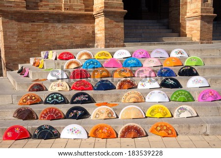 Seville Fans - stock photo