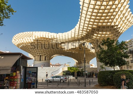 SEVILLE, SPAIN - September 7, 2016: Metropol Parasol in Seville, Spain.