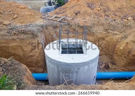Sewage drainage system - stock photo