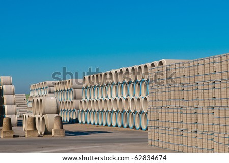sewage pipes - stock photo
