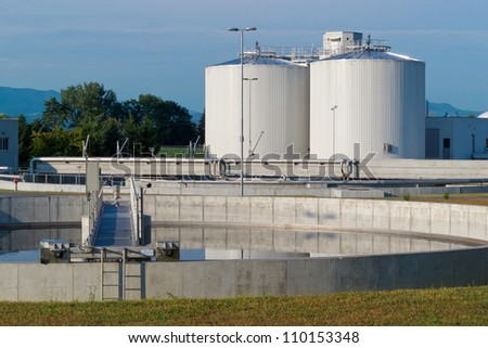 Sewage treatment - stock photo