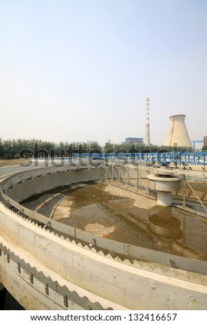 sewage treatment works building facilities in China