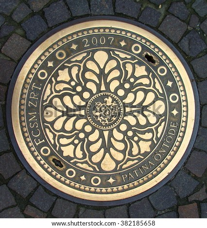 Sewer manhole  in Budapest