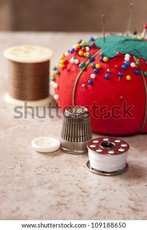 Sewing 3 - stock photo