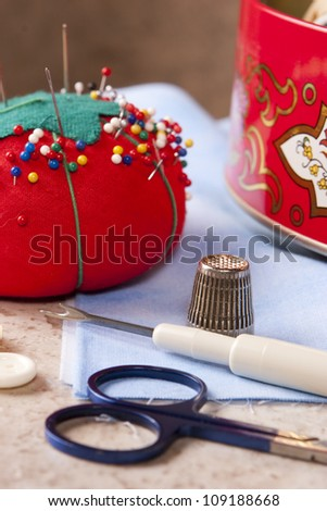 Sewing 1 - stock photo