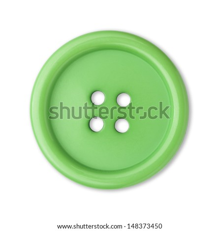 sewing button - stock photo