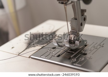 sewing machie - close-up