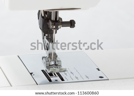 Sewing machine close-up - stock photo