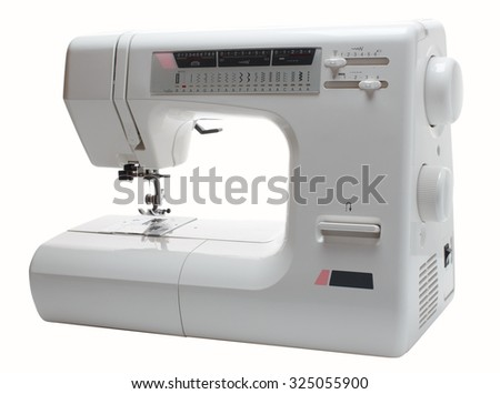 Sewing machine, isolated on white