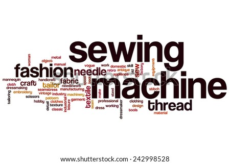 Stock Images Similar To Id 89349535 Stylized Sewing Pattern 3