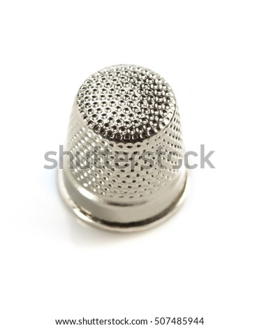sewing thimble isolated on white background