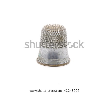 Sewing Thimble on White