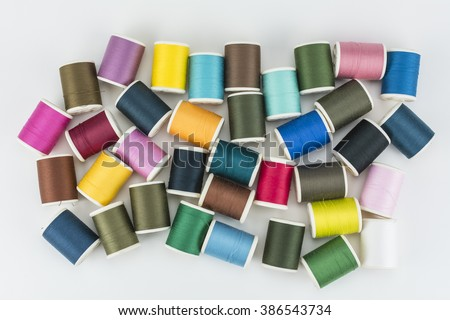 Sewing thread isolated on white background./ Sewing thread