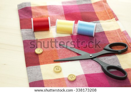 Sewing tools and cloth