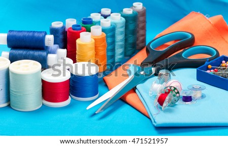 sewing tools on table