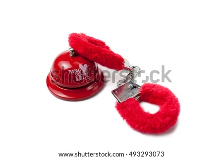 McCanns and MWT on ITV 'This Morning' at 11.45 (21 Feb) VIDEO Added - Page 4 Stock-photo-sex-toys-ring-for-sex-bell-with-red-handcuffs-on-isolated-white-background-493293073