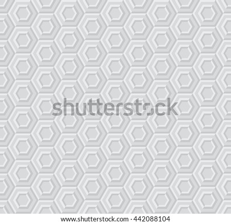 sexangle light 3d geometric pattern  - stock photo