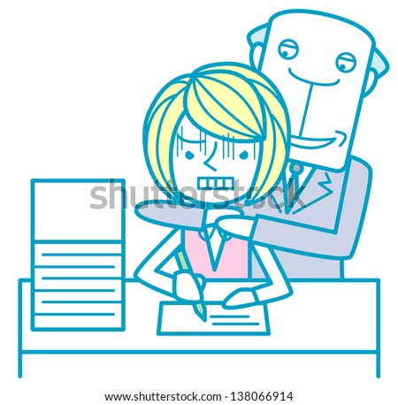 Sexual harassment - stock photo