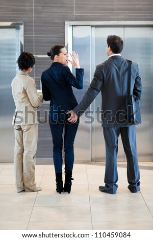 sexual harassment in workplace - stock photo