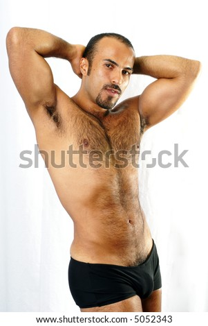 Sexualized Male Body Shot - stock photo