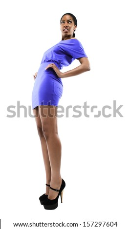 Sexy African Fashion Model  - stock photo