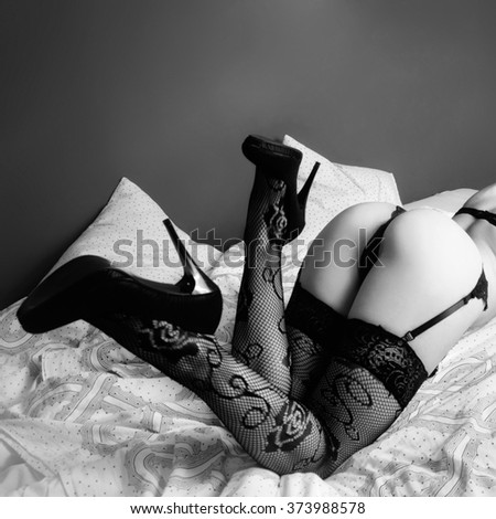 Sexy ass and legs - stock photo