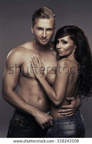 Sexy beauty couple  - stock photo