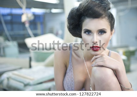Sexy beauty woman in lingerie - stock photo