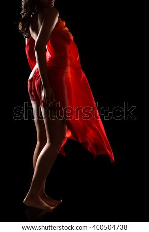 Sexy black woman - stock photo