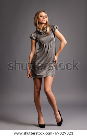 Sexy blonde Fashion Lady - stock photo