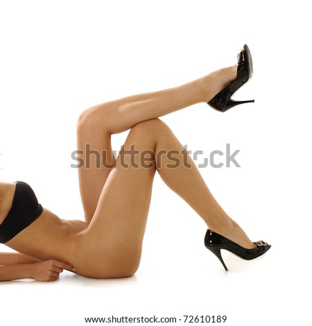 Sexy body and sexy legs - stock photo