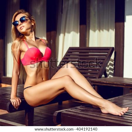 Pretty Blonde Summer Vacation Scene 68