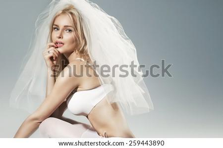 Sexy bride - stock photo