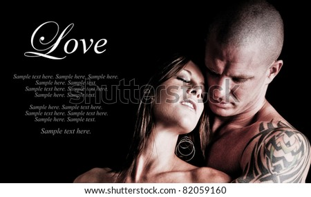 Sexy Couple embracing and in love with each other - stock photo