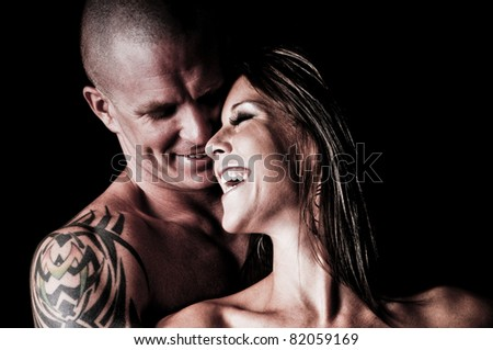 Sexy Couple in love laughing together