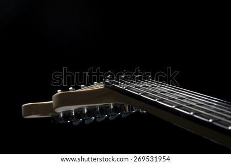 Sexy electric guitar natural wood - stock photo
