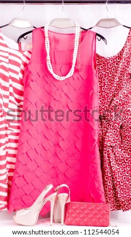 Sexy fashionable clothes, shoes and accessories - stock photo