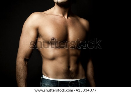 Sexy fit man body