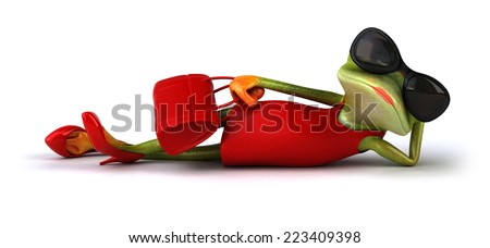 Sexy frog - stock photo