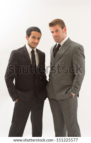 Sexy Gay Couple in Suits