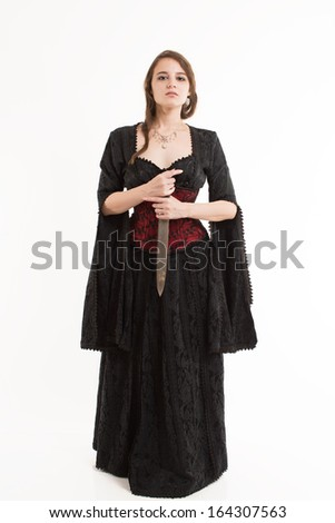 Sexy Girl in Gothic Dress