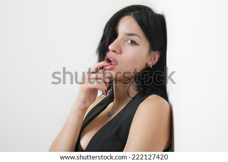 Sexy Girl isolated on a White