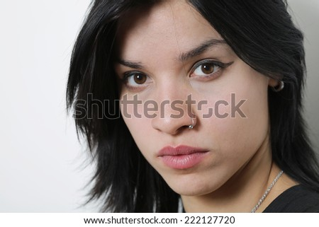 Sexy Girl isolated on a White - stock photo