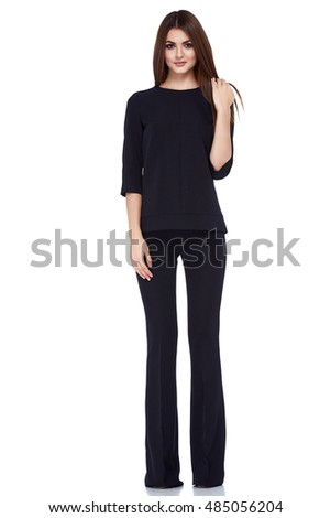 Fashion Style Woman Perfect Body Shape Stock Photo 521494879 ...