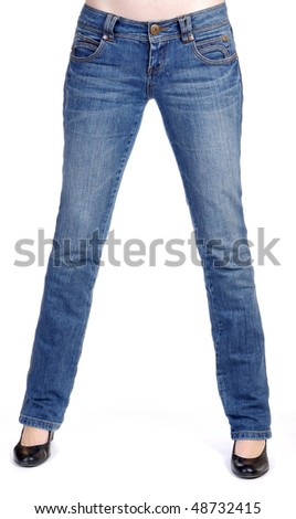 Sexy legs with jeans