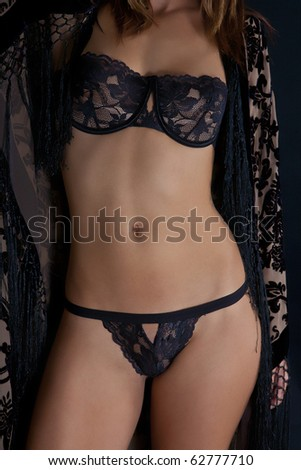 Sexy Lingerie on Model - stock photo