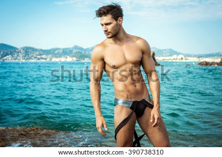 Sexy Male Model Wear Men's Underwear - stock photo