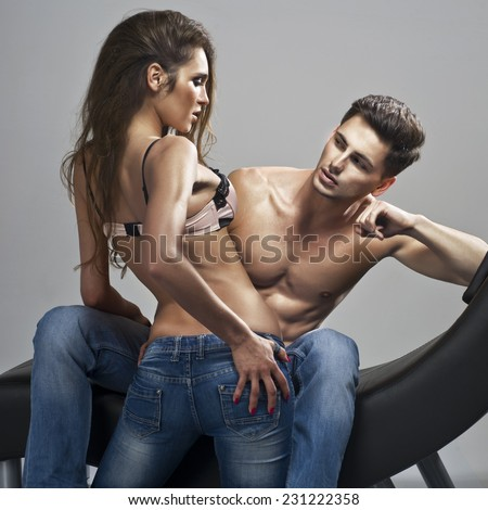 Sexy Man And Woman posing together