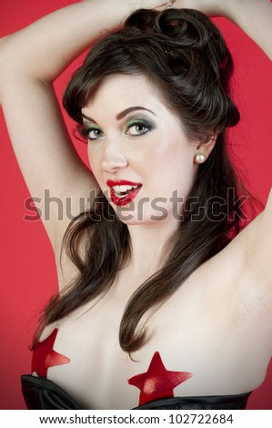Sexy Military Model - stock photo